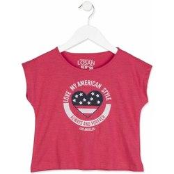 tekstylia Dziewczynka T-shirty z krótkim rękawem Losan 814-1023AB Różowy