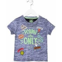 tekstylia Dziecko T-shirty z krótkim rękawem Losan 815-1017AC Niebieski