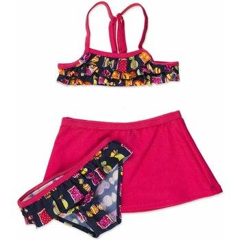 tekstylia Dziewczynka Kostium kąpielowy dwuczęściowy Losan 816-4011AD Różowy