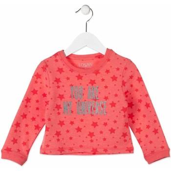 tekstylia Dziecko Bluzy Losan 816-6023AD Różowy