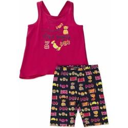 tekstylia Dziewczynka Komplet Losan 816-8044AD Różowy