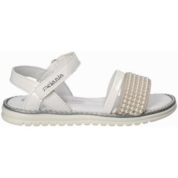 Buty Dziewczynka Sandały Melania ME6094F8E.B Biały