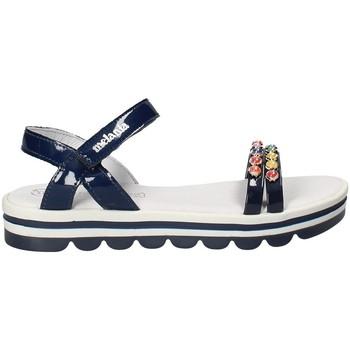 Buty Dziewczynka Sandały Melania ME6162F8E.A Niebieski