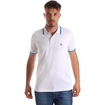 tekstylia Męskie Koszulki polo z krótkim rękawem Gaudi 911BU64033 Biały