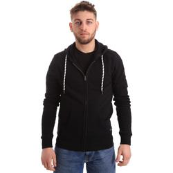 tekstylia Męskie Bluzy Key Up 2F01I 0001 Czarny