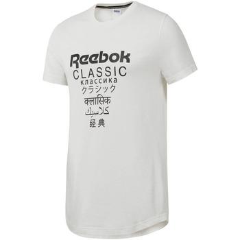 tekstylia Męskie T-shirty z krótkim rękawem Reebok Sport DJ1893 Biały