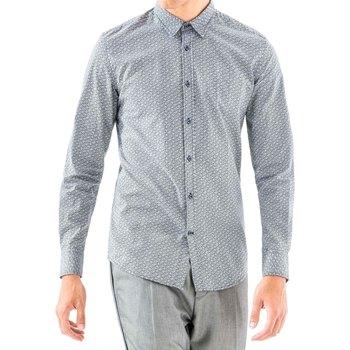 tekstylia Męskie Koszule z długim rękawem Antony Morato MMSL00501 FA430345 Niebieski