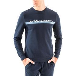 tekstylia Męskie Bluzy Antony Morato MMFL00454 FA150048 Niebieski