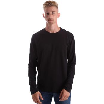 tekstylia Męskie T-shirty z długim rękawem Gas 300187 Czarny