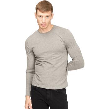 tekstylia Męskie T-shirty z długim rękawem Gas 300187 Szary