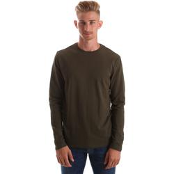 tekstylia Męskie T-shirty z długim rękawem Gas 300187 Zielony