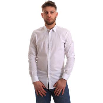 tekstylia Męskie Koszule z długim rękawem Gaudi 821BU45014 Biały