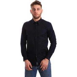 tekstylia Męskie Koszule z długim rękawem Gaudi 821BU45014 Niebieski