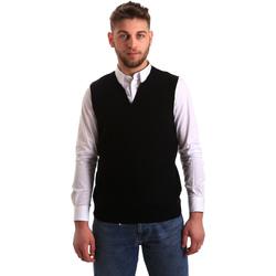 tekstylia Męskie Swetry rozpinane / Kardigany Gaudi 821FU53025 Czarny