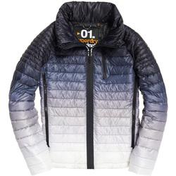 tekstylia Męskie Kurtki pikowane Superdry M50005DR Biały