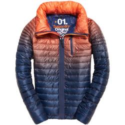 tekstylia Męskie Kurtki pikowane Superdry M50005DR Niebieski