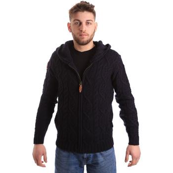 tekstylia Męskie Swetry rozpinane / Kardigany U.S Polo Assn. 50548 52257 Niebieski