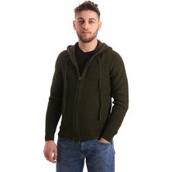tekstylia Męskie Swetry rozpinane / Kardigany U.S Polo Assn. 50519 52229 Zielony
