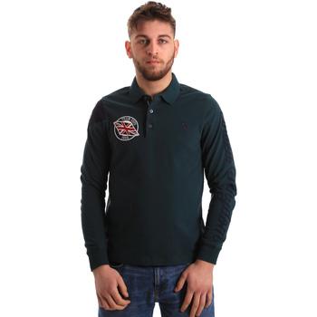 tekstylia Męskie Koszulki polo z długim rękawem U.S Polo Assn. 50615 47773 Zielony