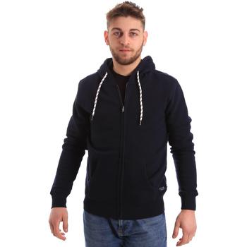 tekstylia Męskie Bluzy Key Up 2F01I 0001 Niebieski