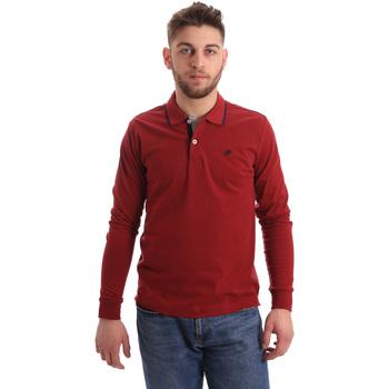 tekstylia Męskie Koszulki polo z długim rękawem Key Up 2RG71 0001 Czerwony