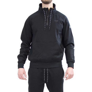 tekstylia Męskie Bluzy Key Up 2VG58 0001 Czarny