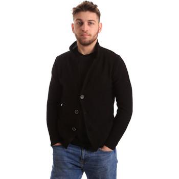 tekstylia Męskie Swetry rozpinane / Kardigany Bradano 165 Czarny
