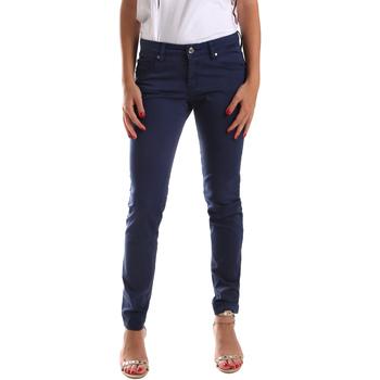 tekstylia Damskie Spodnie z pięcioma kieszeniami Gaudi 911BD25010 Niebieski