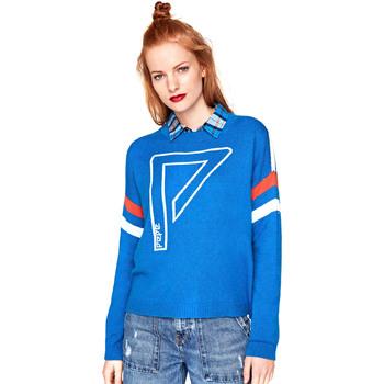 tekstylia Damskie Swetry Pepe jeans PL701356 Niebieski
