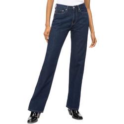 tekstylia Damskie Jeansy straight leg Calvin Klein Jeans J20J207612 Niebieski