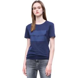 tekstylia Damskie T-shirty z krótkim rękawem Calvin Klein Jeans J20J207949 Niebieski
