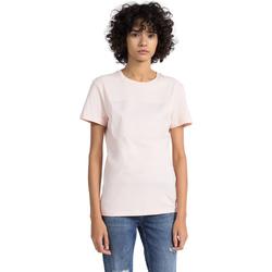 tekstylia Damskie T-shirty z krótkim rękawem Calvin Klein Jeans J20J207949 Różowy