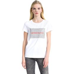 tekstylia Damskie T-shirty z krótkim rękawem Calvin Klein Jeans J20J207974 Biały