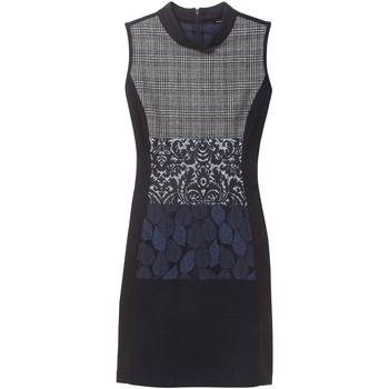 tekstylia Damskie Sukienki krótkie Desigual 18WWVW21 Niebieski