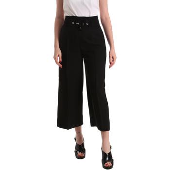 tekstylia Damskie Spodnie z lejącej tkaniny / Alladynki Gaudi 821FD25001 Czarny