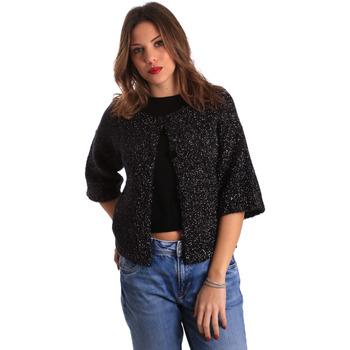 tekstylia Damskie Swetry rozpinane / Kardigany Gaudi 821FD53044 Czarny