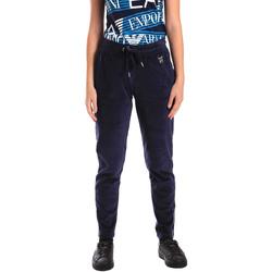 tekstylia Damskie Spodnie dresowe Ea7 Emporio Armani 6ZTP87 TJN9Z Niebieski