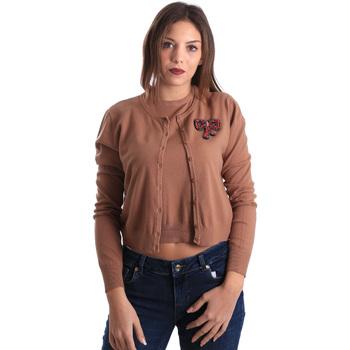 tekstylia Damskie Swetry rozpinane / Kardigany Denny Rose 821DD50100 Beżowy