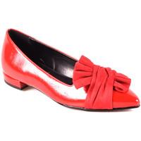Buty Damskie Baleriny Grace Shoes 2216 Czerwony