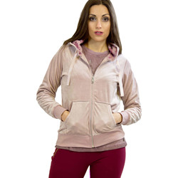tekstylia Damskie Bluzy Key Up 5CS57 0001 Różowy
