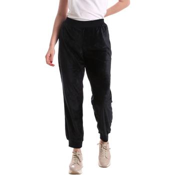 tekstylia Damskie Spodnie z lejącej tkaniny / Alladynki Key Up 5CS55 0001 Niebieski