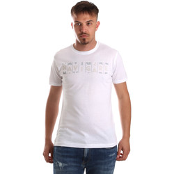 tekstylia Męskie T-shirty z krótkim rękawem Navigare NV31081 Biały