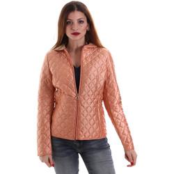 tekstylia Damskie Kurtki pikowane Geox W8220M T2435 Pomarańczowy