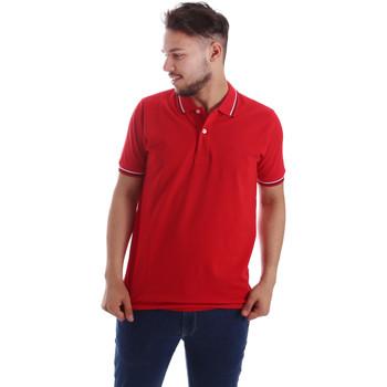tekstylia Męskie Koszulki polo z krótkim rękawem Key Up 2Q70G 0001 Czerwony