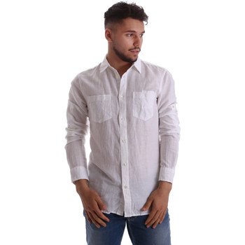tekstylia Męskie Koszule z długim rękawem Gas 151150 Biały
