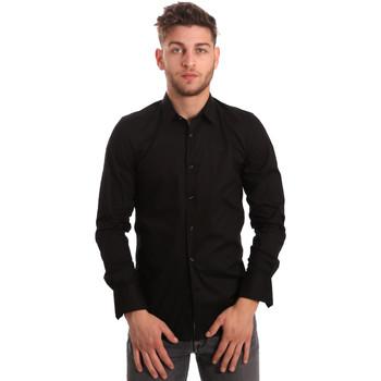 tekstylia Męskie Koszule z długim rękawem Antony Morato MMSL00375 FA450001 Czarny