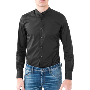 tekstylia Męskie Koszule z długim rękawem Antony Morato MMSL00376 FA450001 Czarny