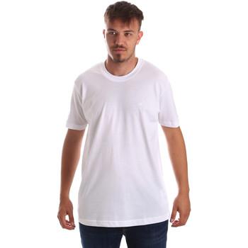 tekstylia Męskie T-shirty z krótkim rękawem Key Up 2M915 0001 Biały