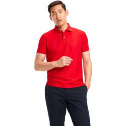 tekstylia Męskie Koszulki polo z krótkim rękawem Tommy Hilfiger MW0MW09731 Czerwony