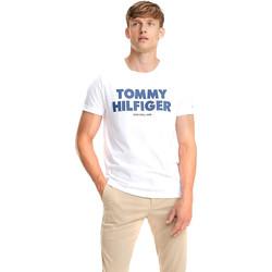tekstylia Męskie T-shirty z krótkim rękawem Tommy Hilfiger MW0MW09821 Biały